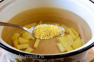 Суп из квашеной капусты: Добавить пшено