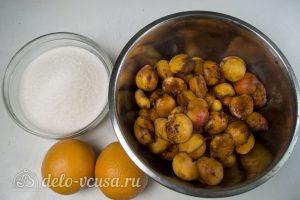 Абрикосовое варенье с апельсином: Ингредиенты