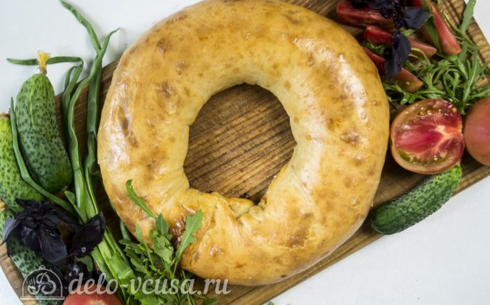 Ханума с мясом и картофелем