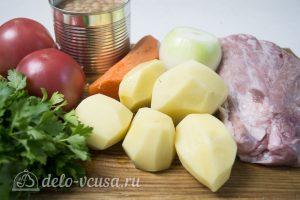 Мясо с консервированной фасолью: Ингредиенты