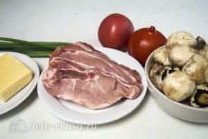 Мясо по-французски с помидорами и грибами: Ингредиенты
