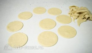 Пирог Хризантема: Вырезать из теста кружки