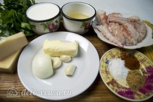Спагетти с креветками в сливочном соусе: Ингредиенты