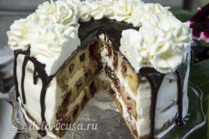 Торт Медовые соты с вишней готов