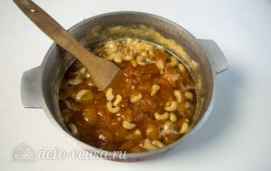Абрикосовое варенье с орехами: Варить до желаемой густоты