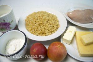Макароны с курицей и сырным соусом: Ингредиенты