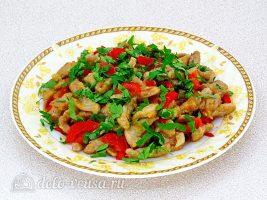 Мясо по-китайски с овощами готово