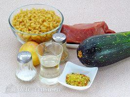 Макароны с фаршем и кабачками: Ингредиенты