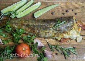 Рыба, запеченная с помидорами и розмарином