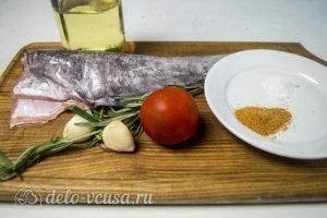 Рыба, запеченная с помидорами и розмарином: Ингредиенты