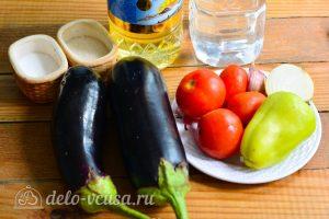 Салат Десяточка с баклажанами на зиму: Ингредиенты