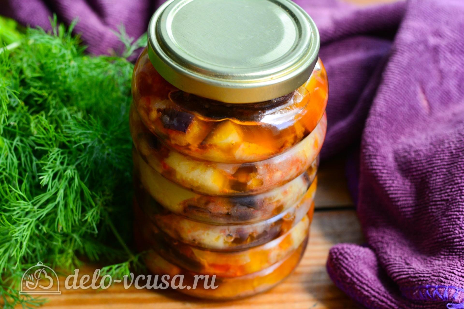 закуска десяточка из баклажанов на зиму