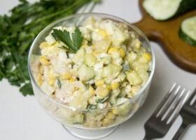 Салат с креветками Морячка