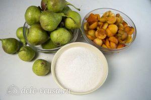 Варенье из груш с абрикосами: Ингредиенты
