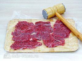 Классический рецепт бефстроганов: Отбить мясо