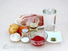 Гуляш из свинины в мультиварке: Ингредиенты