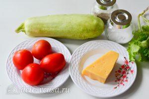 Фаршированные кабачки с помидорами и сыром: Ингредиенты
