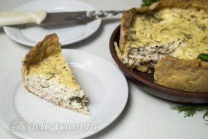 Киш с курицей и сыром: фото к шагу 13