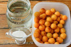 Компот из желтой алычи на зиму: Ингредиенты