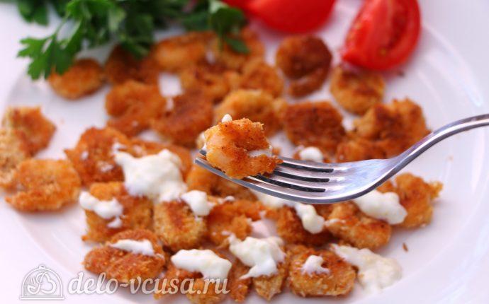 Креветки в панировке с соусом Айоли