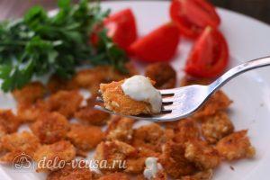 Креветки в панировке с соусом Айоли готовы