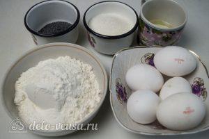 Маковый бисквит: Ингредиенты