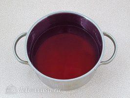 Морс из брусники: Влить сок в отвар