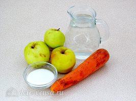 Напиток из яблок и моркови: Ингредиенты