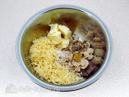 Паштет из скумбрии с сыром: Смешать ингредиенты