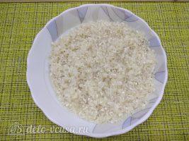 Плов из баранины с чесноком: Промыть рис