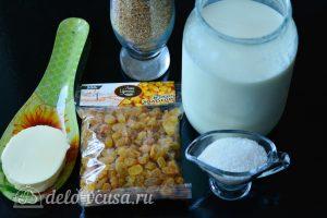 Пшенная каша с изюмом на молоке: Ингредиенты