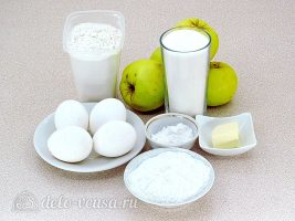 Пышная шарлотка с яблоками: Ингредиенты