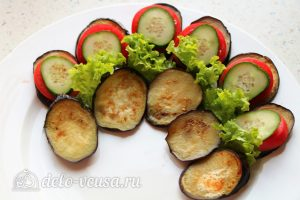Закуска Павлиний хвост: Выкладывать овощи послойно