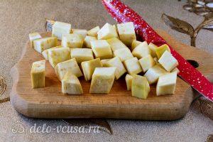 Острые баклажаны как грибы: Измельчить баклажаны
