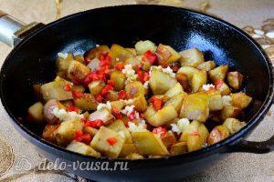 Острые баклажаны как грибы: Обжарить овощи