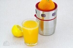 Блинчики Креп Сюзетт с апельсиновым соусом: Выжать сок