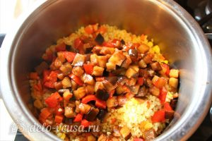 Булгур с овощами: Добавить овощи к булгуру