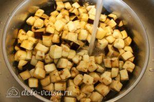 Булгур с овощами: Промыть баклажаны