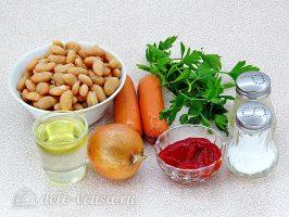 Быстрое лобио из белой фасоли с сосисками: Ингредиенты