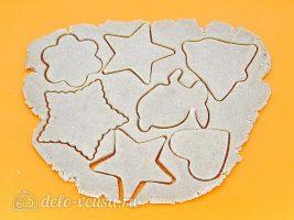 Имбирное печенье с глазурью: Вырезать печенье