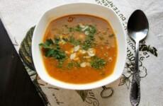 Суп-пюре из тыквы с чечевицей