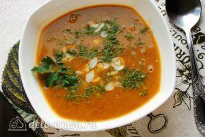 Суп-пюре из тыквы с чечевицей готов