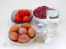 Куриная печень с яйцом по-румынски: Ингредиенты