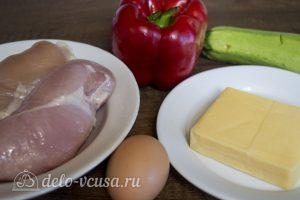 Куриные котлеты с овощами и сыром: Ингредиенты