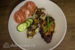 Мясо в горчичном маринаде готово