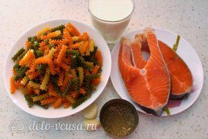 Паста с семгой в сливочном соусе: Ингредиенты