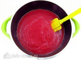 Яблочное пюре с клюквой: Проварить пюре
