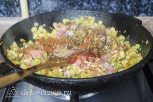 Рис с кабачками и фаршем: Добавить мясо к овощам