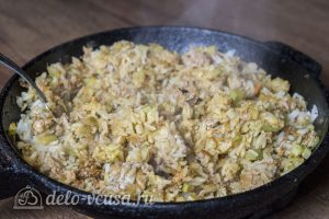 Рис с кабачками и фаршем готов