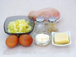 Салат Дамский каприз с ананасом и курицей: Ингредиенты